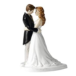 .com: Royal Doulton Our Wedding Day Cake Topper: Kitchen & Dining