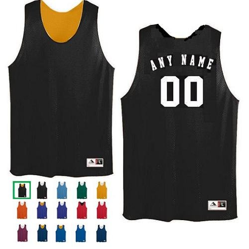 CUSTOM Basketball Reversible (Both Sides Any Name/Number) Tricot Mesh Polyester Tank Jersey Shirts (8 Colors: Youth/Adult)