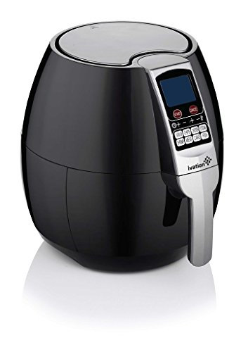 Cheap Ivation 1500 Watt Multifunction Electric Air Fryer with Digital LED Display Featuring 8 Cooking Presets Menu, Timer and Temperature Control – for Healthy Frying with Little to No Oil – Black