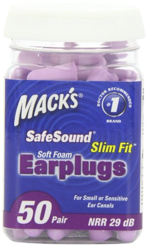 Mack'S Ear Care Slim Fit Soft Foam Earplugs, 50 Count