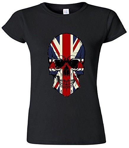Junior Fit: Skull Face British Flag T-Shirt