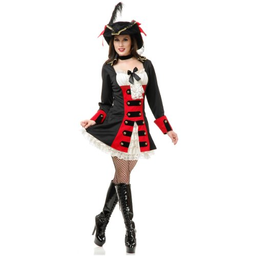 British Pirate Lady Costume - X-Large - Dress Size 14-16