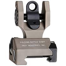 Troy Industries Folding Tritium Battle Sight Rear (Flat Dark Earth)