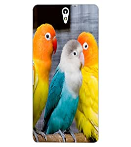 ColourCraft Love Birds Design Back Case Cover for SONY XPERIA C5 ULTRA