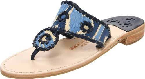 Jack Rogers Women's Aquarius China Seas Navajo Thong Sandal,Navy,8 M US