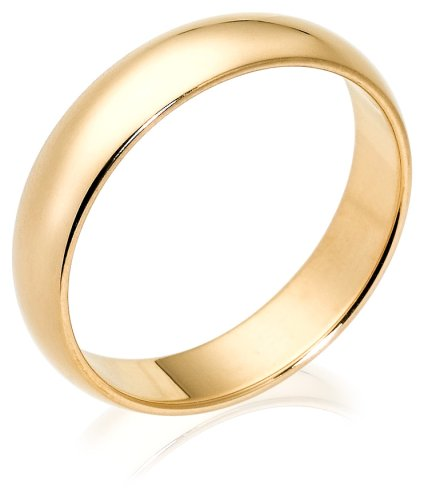 10k Yellow Gold 5mm Traditional Men's Wedding Band