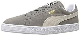PUMA Suede Classic Sneaker,Steeple Gray/White,10 M US Men\'s