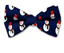 PBTX-11 - Navy - White - Red - Green - Pre-Tied Christmas Theme Bowtie