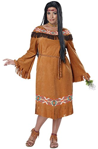 [8eighteen Classic Indian Maiden Dress Native American Plus Size Women Costume] (Gothic Maiden Costumes)