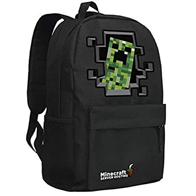Minecraft Creeper Backpack Black 5# by Minecraft