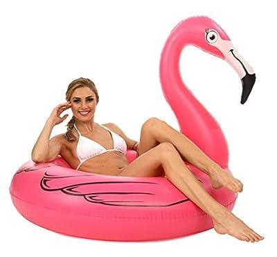 Jumbo Pink Flamingo Pool Float; 4' Pool Raft, Inner Tube by Kangaroo Manufacturing
