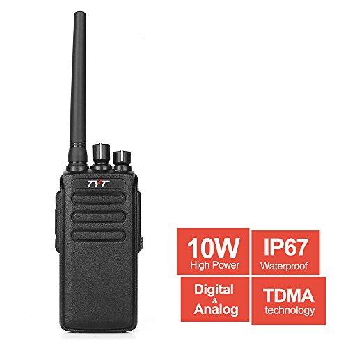 TYT MD-680 10-Watt High Power DMR Analog/ Digital Mobile Radio, IP67 Waterproof Dustproof Two-Way Radio, UHF Walkie Talkie, Transceiver with TDMA Technology & 2200 mAh Battery