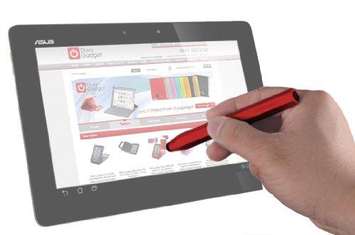 DURAGADGET 新ASUS Fonepad ME371-GY08 グレー Android 4.1.2 インテル Atom プロセッサー Z2420 7 inch eMMC8GB メインメモリ1GB モバイル通信対応 SIM フリー ME371-GY08用専用 タッチスクリーン 容量式タッチペン レッド