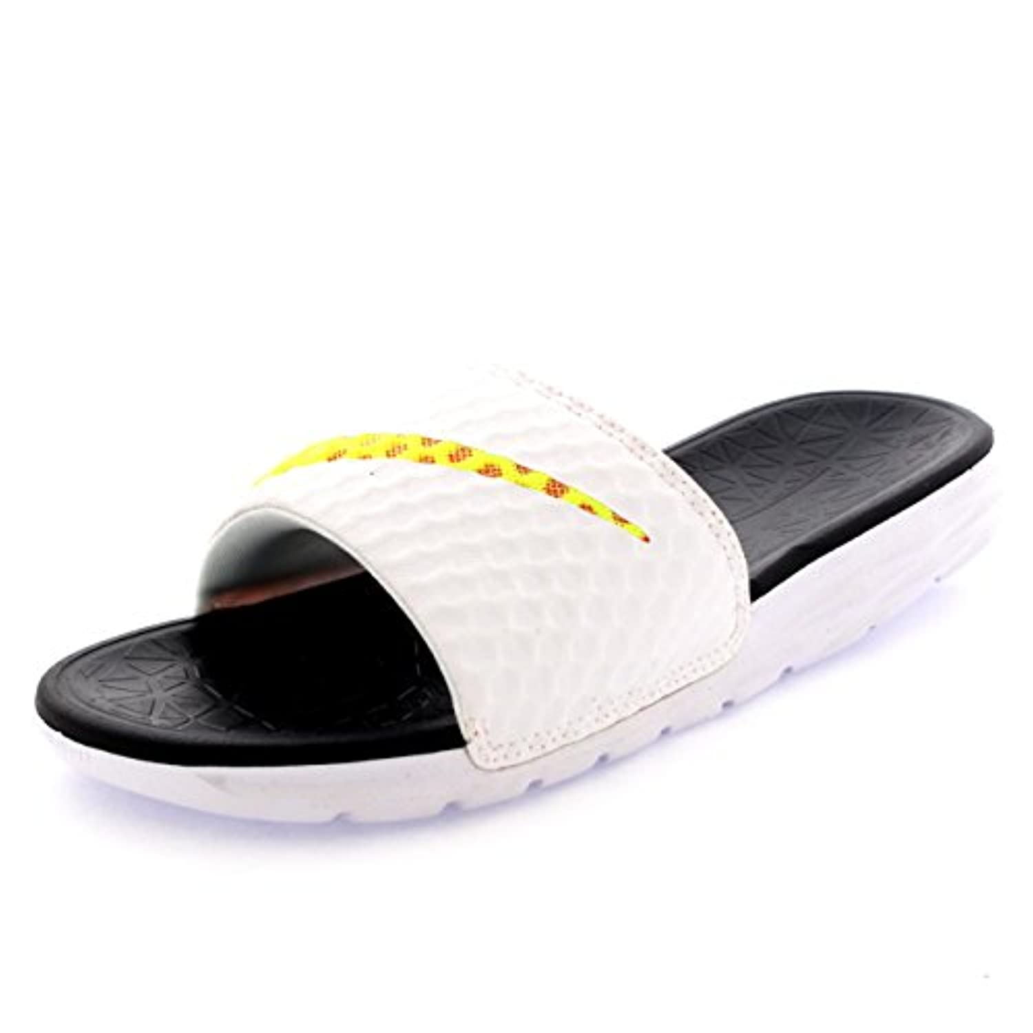 ... Unisex Adults Nike Benassi Solarsoft Slide 2 Pool Slippers Beach Sandals  - White/Black ...