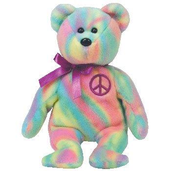TY Beanie Baby Peace Bear - 1