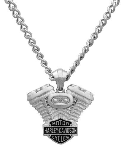 Harley-Davidson® MOD® H-D Steel Engine Necklace HSN0008
