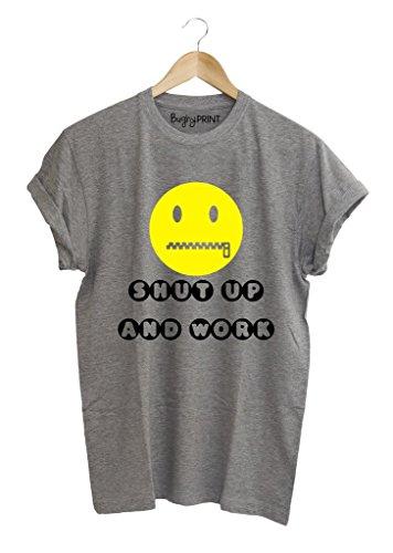 T-shirt uomo Shut up and work, XL