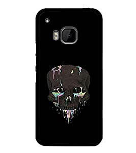 printtech Skull Abstract Back Case Cover for HTC One M9::HTC M9