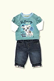 2 Piece Autograph Pure Cotton Dog Top & Bottoms Outfit [T78-7727F-Z]
