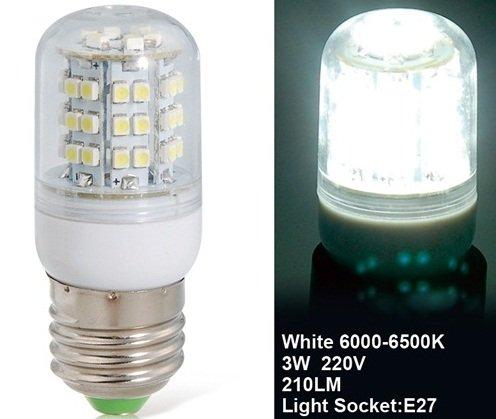 True 3W E27 220V 48 X 3528 White Led Corn Bulb