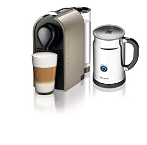 Nespresso A+C50-US-TP-NE Espresso Maker with Aeroccino Milk Frother, Pure Grey