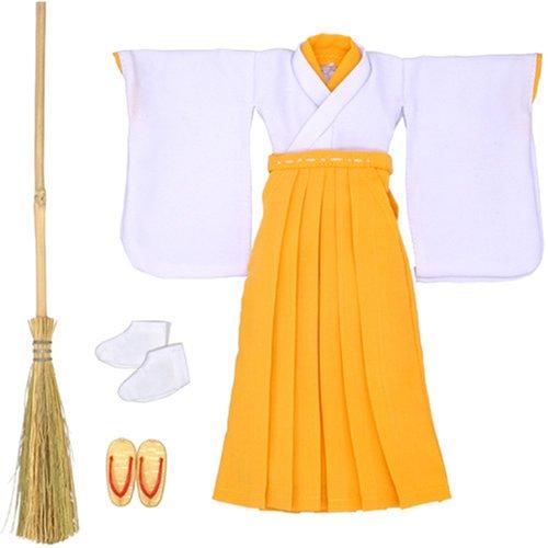 25巫女服 白×黄色