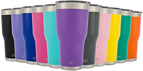 Simple Modern Tumbler Vacuum Insulated 30oz Cruiser with Lid - Double Walled Stainless Steel Travel Mug - Sweat Free Coffee Cup - Compare to Yeti and Contigo - Powder Coated Flask - Lilac Purple