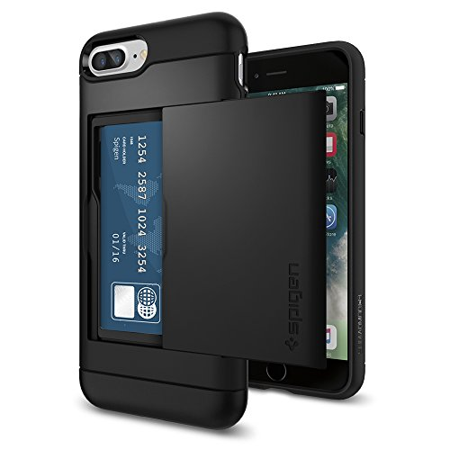 iPhone-7-Plus-Case-Spigen-Slim-Armor-CS-Card-Holder-Black-Slim-Fit-Dual-Layer-Protective-with-Card-Slot-Holder-Wallet-Case-for-Apple-iPhone-7-Plus-2016-043CS20528