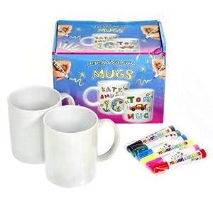 Design Your Own Mug Kit 2 Mugs 6 Color