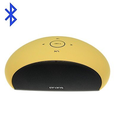 Zclefans-E450 Touch Ultra-Portable Stereo Wireless Bluetooth V3.0 Speaker Audio W/ 3.5Mm Aux-In Matte Surface (Yellow)