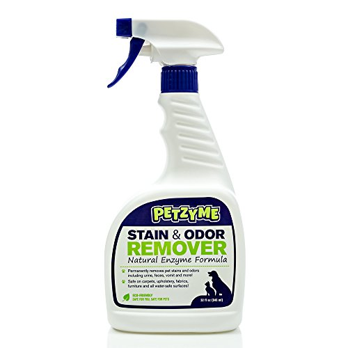 Petzyme Pet Stain Remover & Odor Eliminator, Enzyme Cleaner for Dogs, Cats Urine, Feces and More, 32 Fl Oz Spray (Enzyme Stain Remover compare prices)