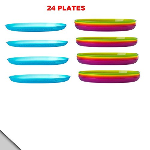 IKEA - KALAS Plate, Assorted Colors (Set of 24)