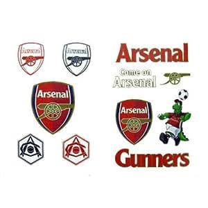 Arsenal FC Tattoo Pack - Football Gifts (tatuajes temporales)