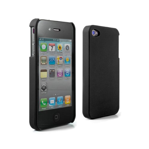 Proporta Impact Protective Crystal Back Shell for Apple iPhone 4 - 1 Pack - Case - Retail Packaging - Black