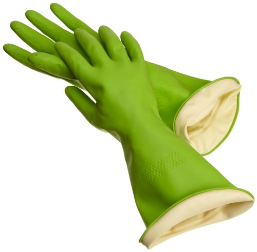 Casabella Way Clean Waterstop Rubber Gloves, Large