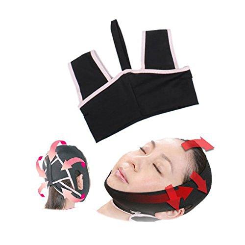 Foxnovo Novelty V-Line 3D Face Cheek Chin Liftup Shaping Slimming Belt Anti-Wrinkle Face Belt Sleep Mask Belt - Size L
