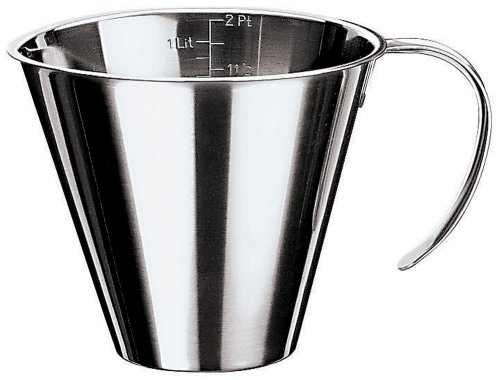 Paderno World Cuisine 4-Inch Diameter Stackable Stainless Steel Measuring Jug