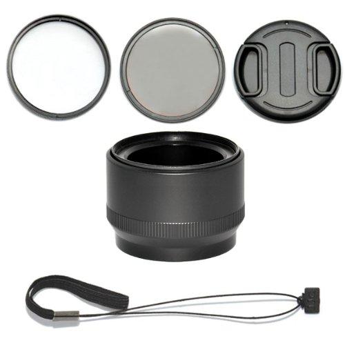Dot.Foto Objektiv Zubehörset 5 teilig für Canon PowerShot G15, G16 mit Objektivadapter, UV Filter, Polarisationsfilter, Objektivdeckel, Objektivdeckelhalter