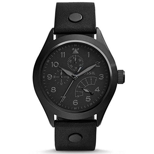 Fossil CH2940 - Reloj para hombres, correa de cuero color negro