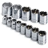 SK 4613 13 Piece 3/8-Inch Drive 6 Point 1/4-Inch to 1-Inch Socket Set