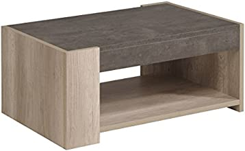 Parisot 0144TABA Spare Table Basse Bois Blanc 90 x 59 x 39 cm