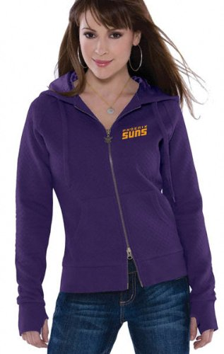 Phoenix Suns Women's Quilted Full Zip Hooded Jacket - by Alyssa Milano at Amazon.com