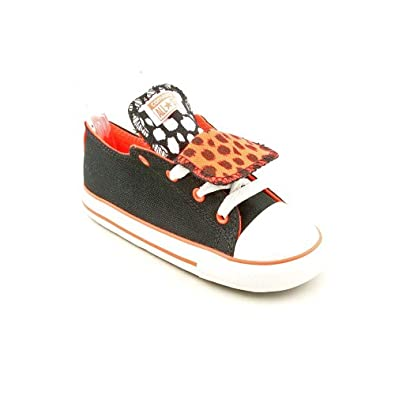 Converse CT Double Tongue Ox Toddler Girls Black Sneakers Shoes 10 UK