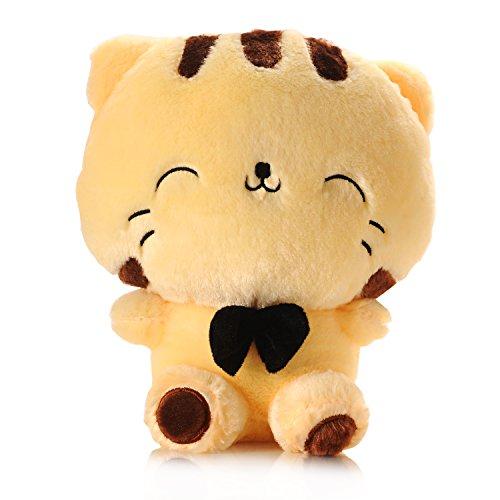 "USATDD Cat Plush Toy Stuffed Animal Doll 11"" Cushion Pillow Best Gift Yellow"