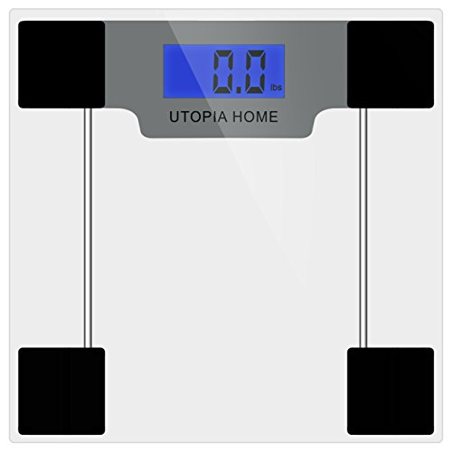 Digital Glass Bathroom Scale Ultra Slim Tempered Glass - Clear
