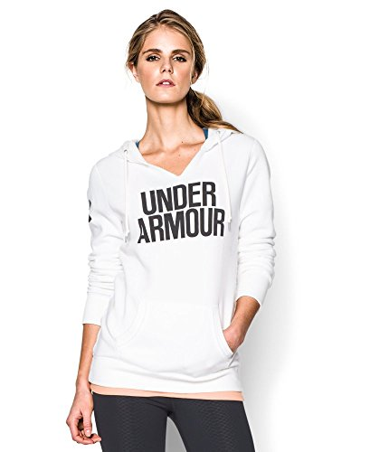 Under Armour Women's UA Favorite Fleece Word Mark Hoodie X-Small White
