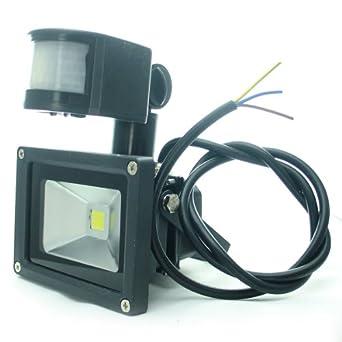 amazon.com: quans 110v 220v ac 10w warm white 3000k led ... ac led flood light wiring