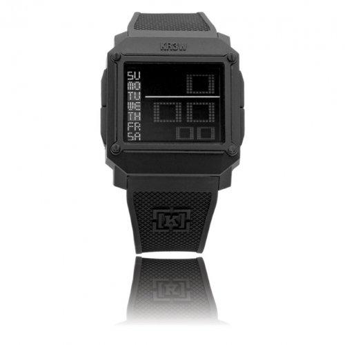 KR3W Men's K1148-BLK Halo Negative Module Black Polyurethane Watch