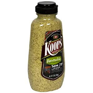 Koops Horseradish Mustard, 12-Ounce Squeeze Bottles (Pack of 12)