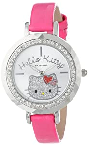 Hello Kitty Women's HK1390 Pink Strap Silver Dial Watch